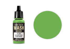 Vallejo Wash-Colour, Green Wash, 17 ml - 73.205