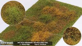 Welberg - M044 Grasmatte Wildes Gebüsch, Herbst, DIN A4 Format