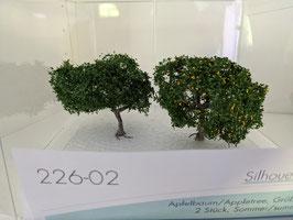 Silhouette - 226-02, 2 Apfelbäume, Apfelbaum, Frühsommer, 1:87 / H0