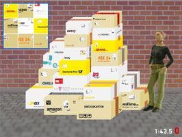 MODELLLAND - 1:43 Spur 0 Bausatz Pakete - 8010-0