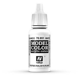 Vallejo - Weiß, matt, 17 ml, acrylic color, 70951 (770951)