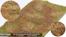 Welberg - M034 Grasmatte Wildwuchs mit Unkraut, Winter, DIN A4 Format