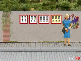 MODELLLAND H0 4x Kaugummiautomat - 1550-8