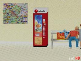 MODELLLAND H0 RhB SBB Selecta Kaffee Automat - 9030-8