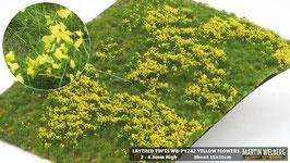 Welberg - Gras mit gelben Blüten, 4,5 mm,  15x21cm (PY242)