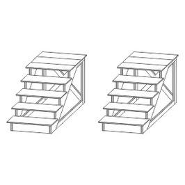 Stangel - 0 | Holztreppe 2 Stück Bausatz