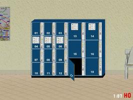 MODELLLAND H0 Gepäckschliessfach Schliessfach mit offener Tür - 2112-8