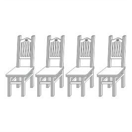 Stangel - 0 | 4 Stühle Bausatz