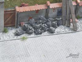 JUWEELA 1:45 Müllsäcke, schwarz, 10 Stück (24184)
