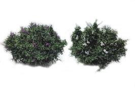 Silhouette/MiniNatur H0 Flieder weiß + lila, Sommer, 4-5 cm, 1:87, 351-06