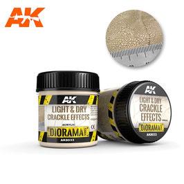 AK-interactive AK8033 LIGHT & DRY CRACKLE EFFECTS, 100 ml
