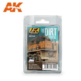 AK-interactive - Weathering Set Trains - Basic Dirt Effects, 3x35ml (AK7020)