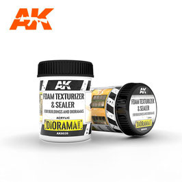 AK-interactive AK8039 FOAM TEXTURIZER & SEALER – FOR BUILDINGS AND DIORAMAS, 250ML
