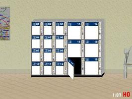 MODELLLAND H0 Gepäckschliessfach Schliessfach mit offener Tür - 2111-8