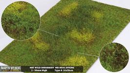 Welberg - M041 Grasmatte Wildes Gebüsch, Frühling, DIN A4 Format