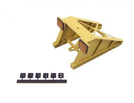 Engl 0 Prellbock gelb der DB für Lenz/Peco Gleis (1:45), Lasercut Fertigmodell - 161003