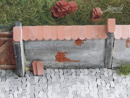 JUWEELA 1:45 Dachziegel Biberschwanz, altrot, Inhalt: 1080 Stk (24167)
