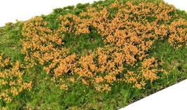 Welberg - Gras mit orangen Blüten, 6 mm, 15x21cm (PO262) (H0)