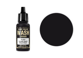 Vallejo Wash-Colour, Schwarz, 17 ml - (73201) (773201)