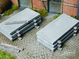 JUWEELA 1:45 Betonplatten, Ladegut, 20 Stück (24221)