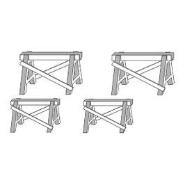 Stangel - 0 | Arbeitsböcke 4 Stück Bausatz