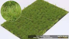 Welberg - P601 Grasbüschel, Frühling, 2-6 mm, 21x15 cm, einzeln vom Träger entnehmbar