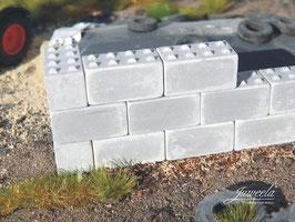 JUWEELA H0 Betonblöcke - 60x 8-Noppen 28333