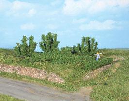 Heki 19126 8 Büsche und Hecken 0,7 - 5 cm