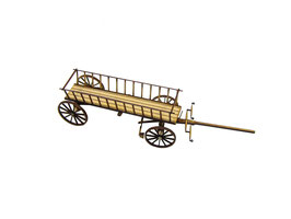 Engl Spur 0 Leiterwagen (1:45), Lasercut Fertigmodell - 164004