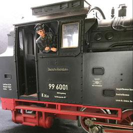 Figurendesign Bauer   Lokführer I Bundesbahn 1:45