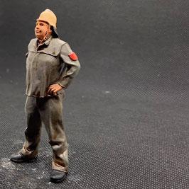 Figurendesign Bauer   TRUPPFÜHRER/ Feuerwehr BRD 1960/70 1:22,5 / IIm