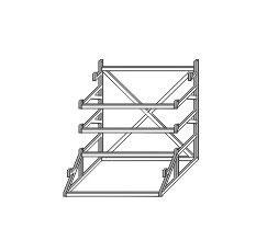 Stangel - 0 | Lagerregal 2 Stück Bausatz