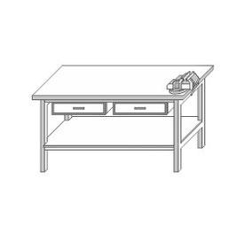 Stangel - 0 | Werkbank mit 2 Schraubstöcke Bausatz