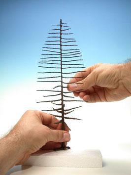 Silhouette - Fichte / Baum-Basis, Rohling ohne Laub, in 4 Größen (573-xx) (H0)