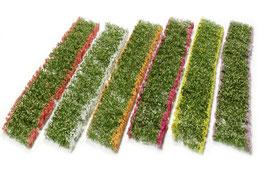 Silhouette/MiniNatur 998-29 Blumen Sortiment in 6 Farben, Streifen zu je 15 x 3,5 cm.