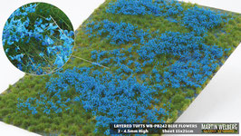 Welberg - Gras mit blauen Blüten, 4,5 mm, 15x21cm (PB242) (H0)
