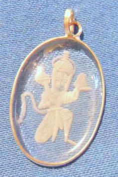 Bergkristallmedallion Hanuman
