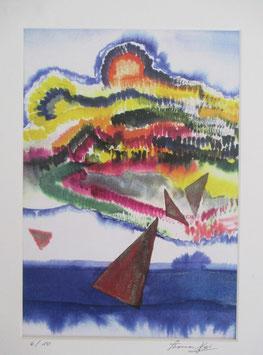 Kunst von Thomas Heer Bild Haifa Ausschnitt   hochwertige Farbkopie Nr 4 und Nr 6 von 10