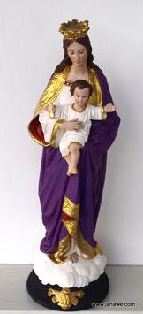 Madonnenfigur aus der ersten Hälfte des 20zigsten Jahrhundert mit Jesukind  55 cm hoch, 17cm breit