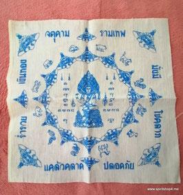 geweihtes Schutztuch mit Rahoo als Schutz vor allen Himmelsrichtungen.