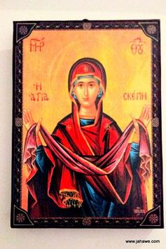 Mutter Gottes mit der unzerstörbaren Wand russische Ikone geweiht.