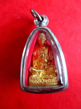 Ein echt vergoldetes Lung Phu Toh Amulett aus dem Wat Rakhang 9 Tage und Nächte geweiht.