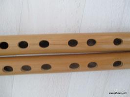 Neu Bambusflöten 1 Paar Länge 38 cm. Dicke 2 cm