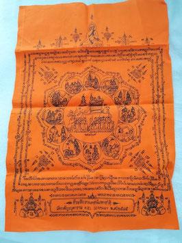 Schutztuch   Thaiamulett 8 Richtungen mit Rahoo Om