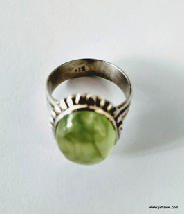 Prehnit Ring in Silber 925  Ringgröße 19,1