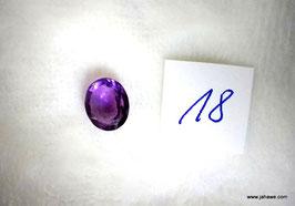 Amethyst aus Indien 3 carat schöner Schliff fassetiert Nr. 18