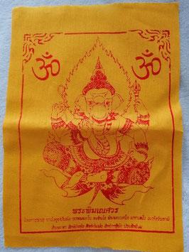 Ganesha Schutztuch geweiht in Gelb