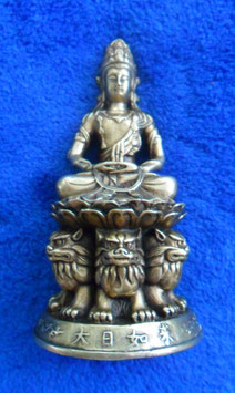 HAN GUAN YIN, China, 12 cm, Messing, Han Stil Buddha