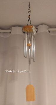 Windspiel  Länge 55 cm, mit 5 hohlen Metallröhren.