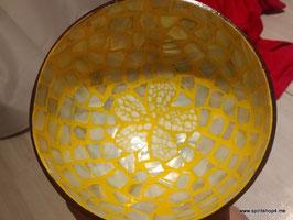 Schale aus Vietnam mit Perlmut Durchmesser ca 14cm